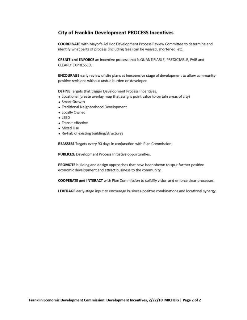 EDC Development proposal