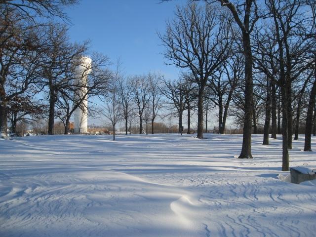 2010-0210 Snowshoeing in Lions Legend Park 004